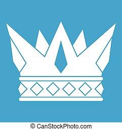 Cog crown icon white