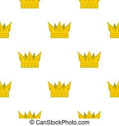 Cog crown pattern flat