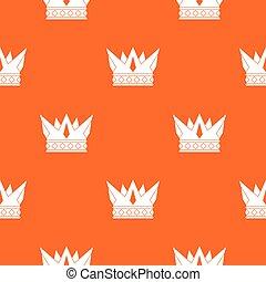Cog crown pattern seamless