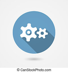 cog gear icon - cog gear or cogwheel icon for settings and...