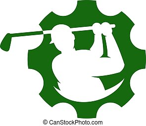 Cog Golf Logo Icon Design