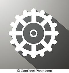 Cog Icon, Gear Illustration. Vector Technology Symbol.