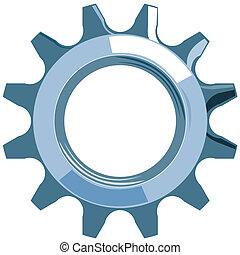 Cog Mechanical Gear - Illustration of cog mechanical gear ...