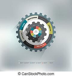Cog wheel circle diagram