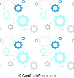 Cog Wheel Gear Seamless Pattern