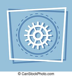 Cog Wheel Icon Gear Settings Web Button