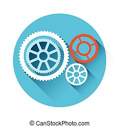 Cog Wheel Mechanical Detail Part Icon