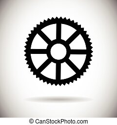 Cog Wheel Mechanical Detail Part Icon Flat Vector...