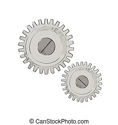 Cog Wheel Mechanical Detail Part Sketch Isolated