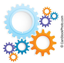 Cog wheels colored vector - Vector illustration of cog wheel...