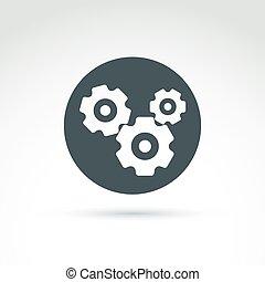 cog-wheels, fogaskerék-áttétel, vektor