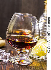 Cognac in a glass