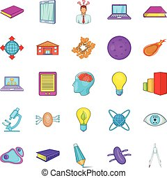 Cognizance icons set. Cartoon set of 25 cognizance vector icons for web isolated on white background