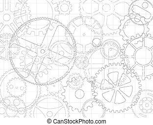 cogs, 蓝图, 齿轮