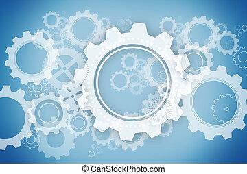 cogs, blauwe , wielen, witte