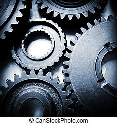 Cogs - Closeup of metal cog gears