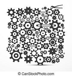 Cogs - Gears. Vector Cog - gear Symbol.
