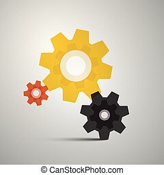 Cogs, Gears. Vector Cog Icon. Gear Symbol.
