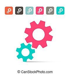 Cogs - Gears Vector Icons