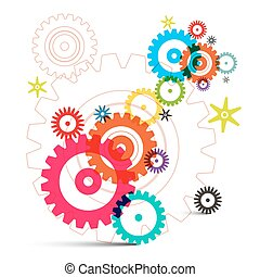 Cogs - Gears - Wheals Vector
