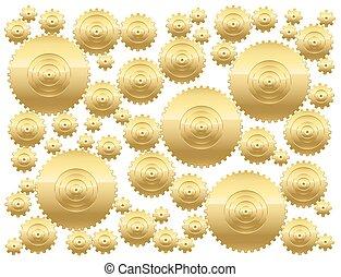 Cogs Golden Gear Wheels