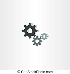 cogs icon vector gears symbol design element