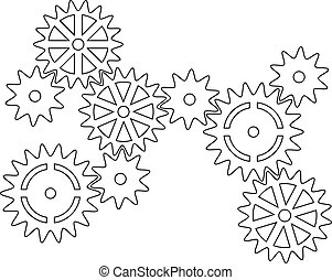 Cogs - Illustration of interlocking cogs