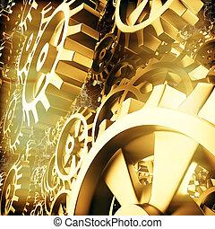 cogs, macro, toestellen, goud