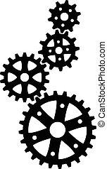 cogs, pretas, (gears)