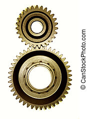 Two cogwheels together