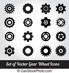 cogs, vector, toestellen, /