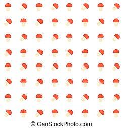 cogumelos, padrão, seamless