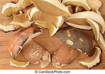 cogumelos selvagens, arranjo