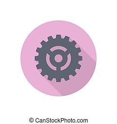 cogwheel  flat color icon