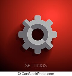 Cogwheel gear mechanism vector settings icon
