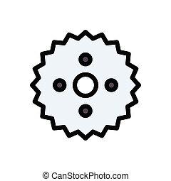 cogwheel  glyph flat icon