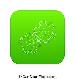 Cogwheel icon green