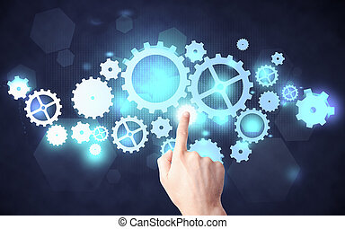 cogwheel, podnikavý, mechanismus, rukopis