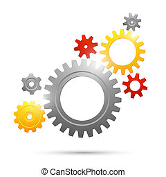 Cogwheel teamwork connection abstract business concept...