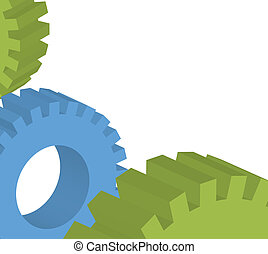 Cogwheels and gear vector