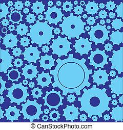 cogwheels - vector background of cogwheels