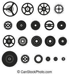 cogwheels, končiny, o, bdít