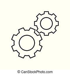 Cogwheels outline icon