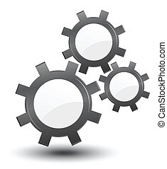 cogwheels, vector, industrial background