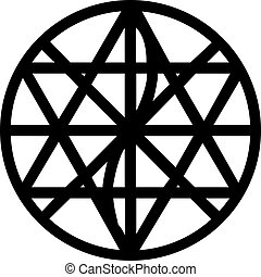 Coherence symbol - Silhouetted circular coherence symbol, ...