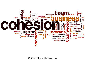 Cohesion concept word cloud background