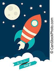 cohete, espacio