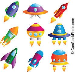 cohetes, iconos