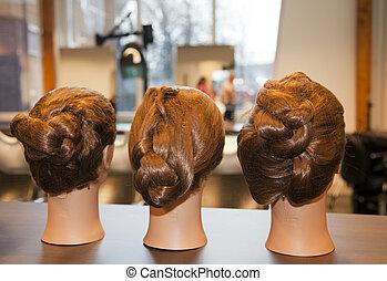 coiffeur, accessoire, étudiant