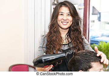 coiffeur cheveux, fonctionnement